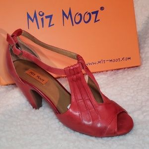 Miz Mooz Red Leather Salima heels. Size 6.5
